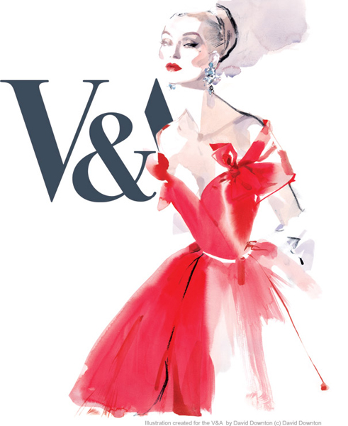 poster for The Golden Age of Couture exhibtion at the V&A