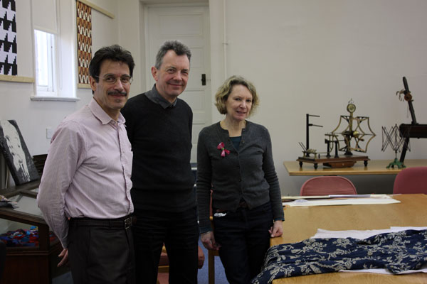 Dr Philip Sykas, Professor John Styles and Meg Andrews