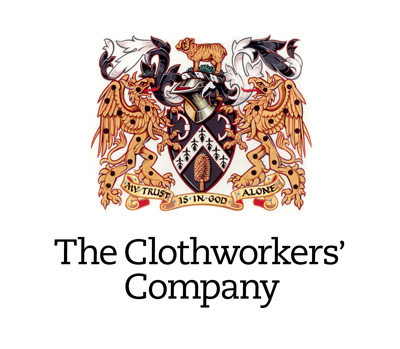 The heraldic crest of the Clothworkers Company