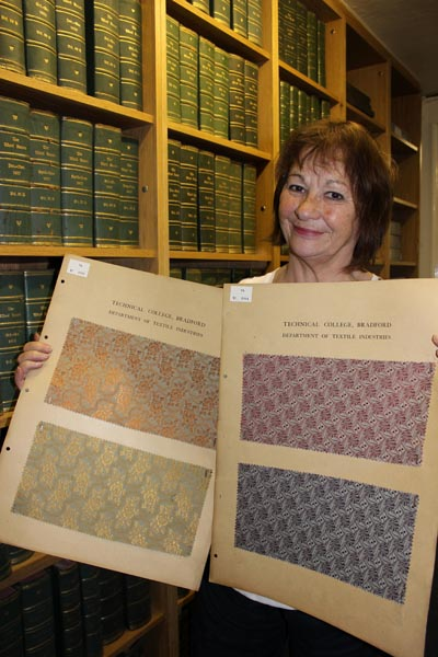Brenda King in the Bradford College Textile Archive
