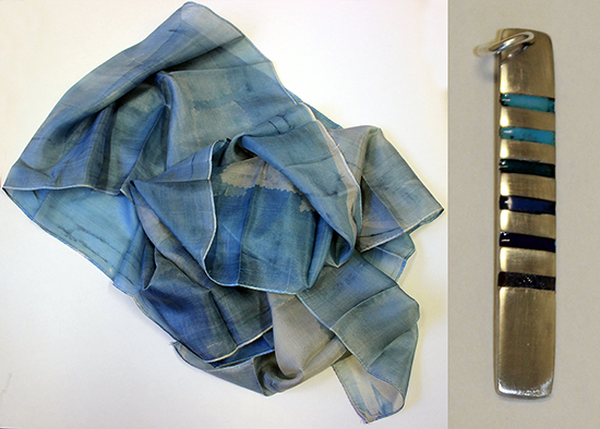Work by Caro Blount-Shah inspired by Bradford College Textile collections