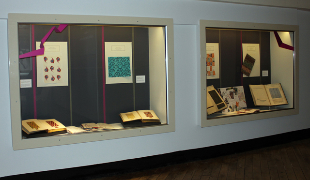 work by our students and part of Indian collection that inspired it in the Golden Threads exhibition