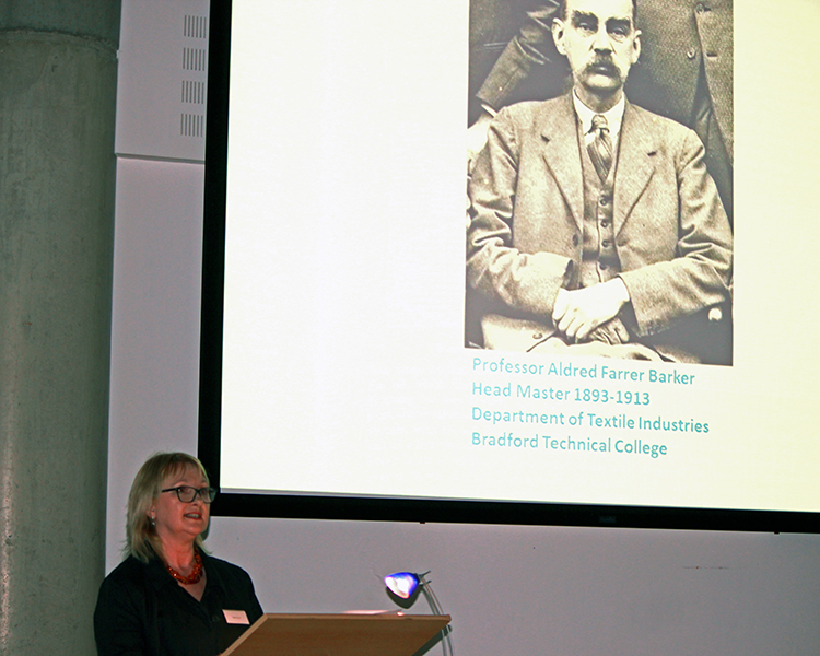 Helen Farrar, Curator of Textiles at Bradford College Textile Archive