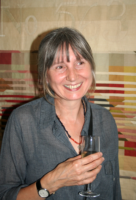 Lorna Jewitt at the opening of the AA2A Fellowship show at the YCC in autumn 2010