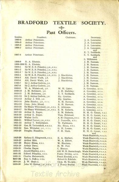 Bradford Textile Society Journal 1935-36