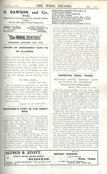 Wool Record 1915 - 'Worstedopolis'