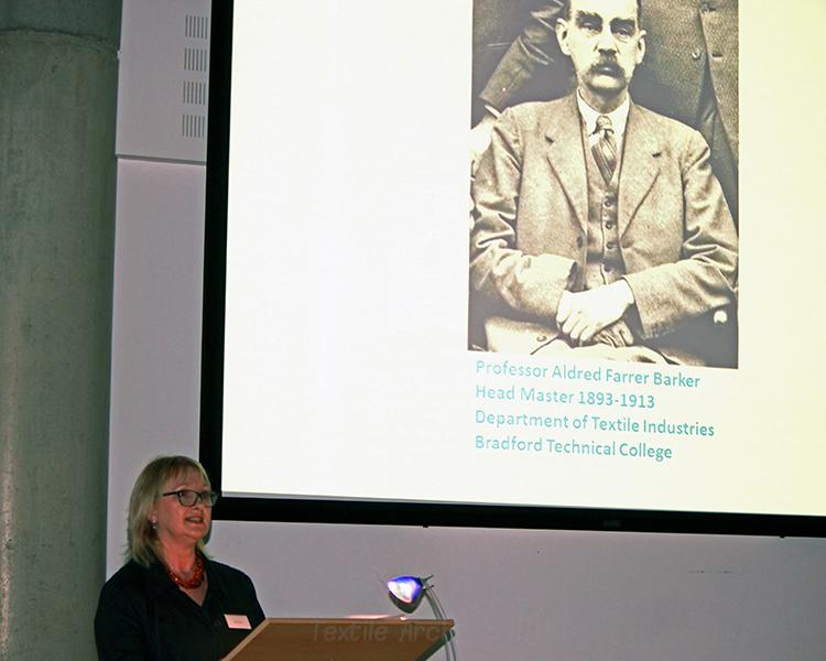 Helen Farrar, Curator of Bradford College Textile Archive